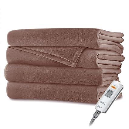 Sunbeam Velvet Plush Heated Throw Blanket 60 quot  x 50 quot  (Various  Colors) ( 4333970a4