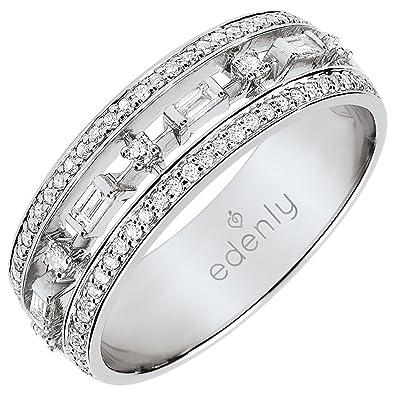 b8328605d97c5 Edenly Bague Destinée - 68 diamants - or blanc 9 carats, taille 52 ...