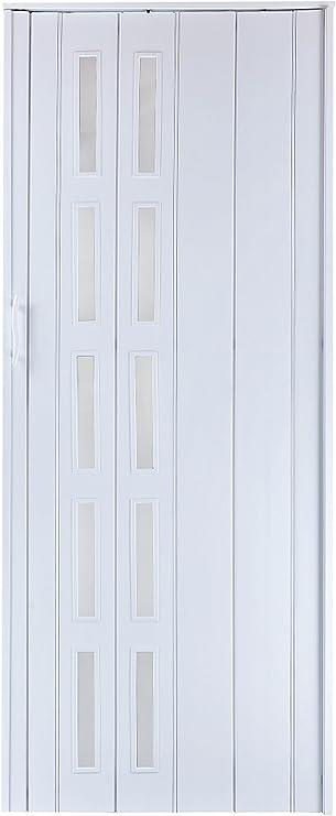 Puerta corredera puertas de colour blanco con los coloures de la ventana opaca al decir 202 cm ejemplo 83 cm de doble perfil, New: Amazon.es: Bricolaje y herramientas