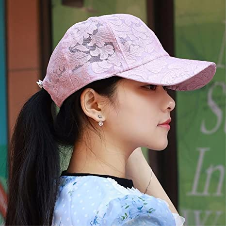 XINQING-MZ Otoño cap gorra de béisbol moda femenina Cap Gorra visera de  encaje sombreros 6a2f923641c