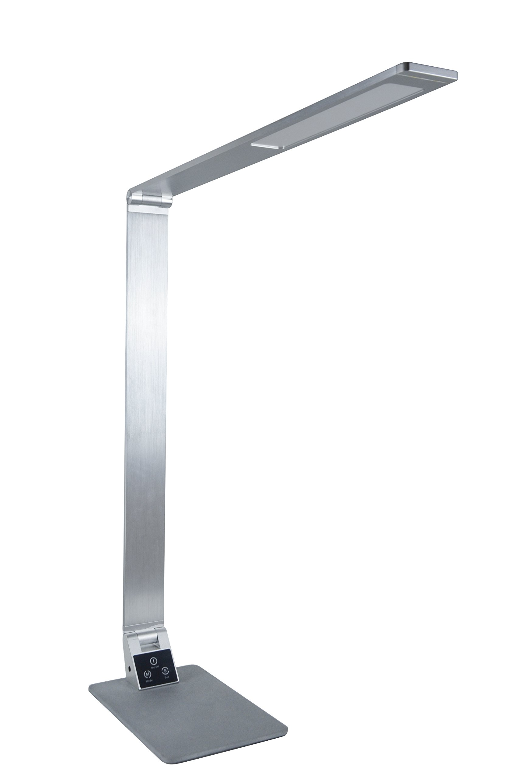 Zhuoxin Eye-protecting Table Desk Lamps, Dimmable Adjustable Office Home Lamp Touch Control, 5 Level Dimmer,3 Color Temperature,12W (Silver)