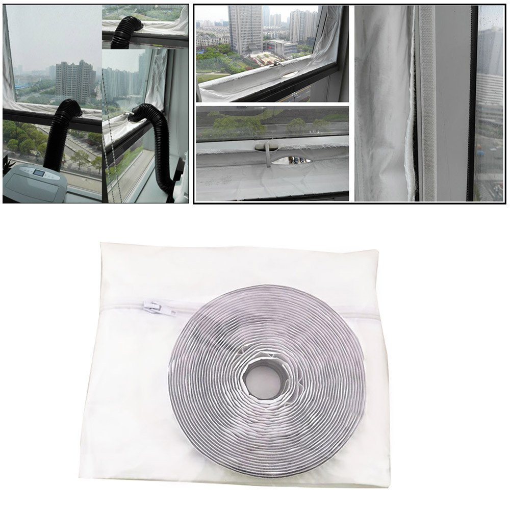 Botrong AirLock Window Seal for Mobile Air-Conditioning Units And Exhaust Air Dryers, Soft Cloth Sealing Baffle Window Door Seal Window Frame Plate, Flexible Cloth Sealing Plate