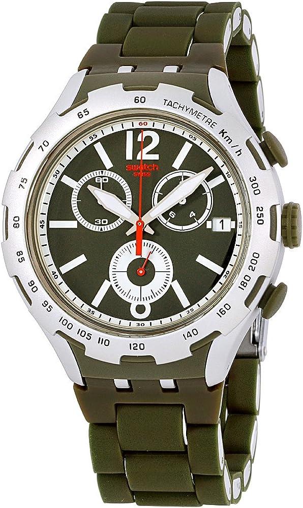 Swatch Irony Green Attack Green Dial Aluminium Men s Watch YYS4022AG