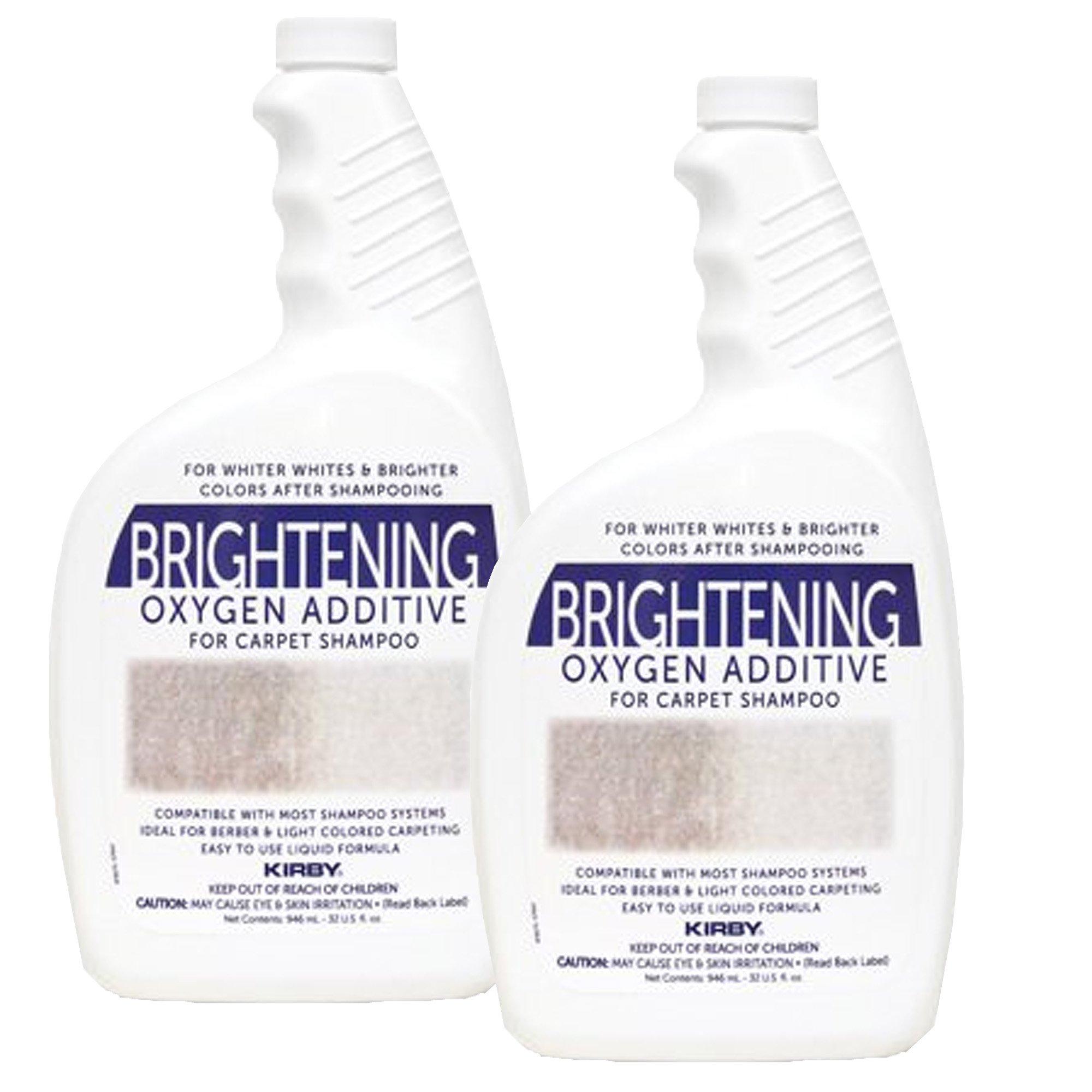 Kirby 32oz. Brightening Oxygen Additive for carpet shampoo (2 bottles) Genuine by Kirby