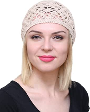 Green summer hat Spring hat Cotton hat Women beret Summer accessories for her Knit hat women Knitted girl set chemo beanie hippie clothes