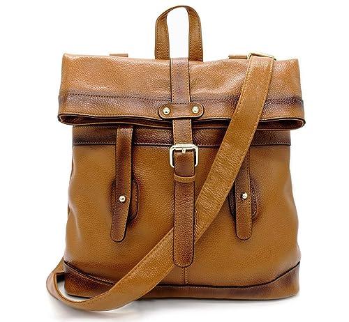 031b25fce4bec La Poet Women's Genuine Leather 3-way Convertible Shoulder Cross Body Bag  Tote Fashion Backpack