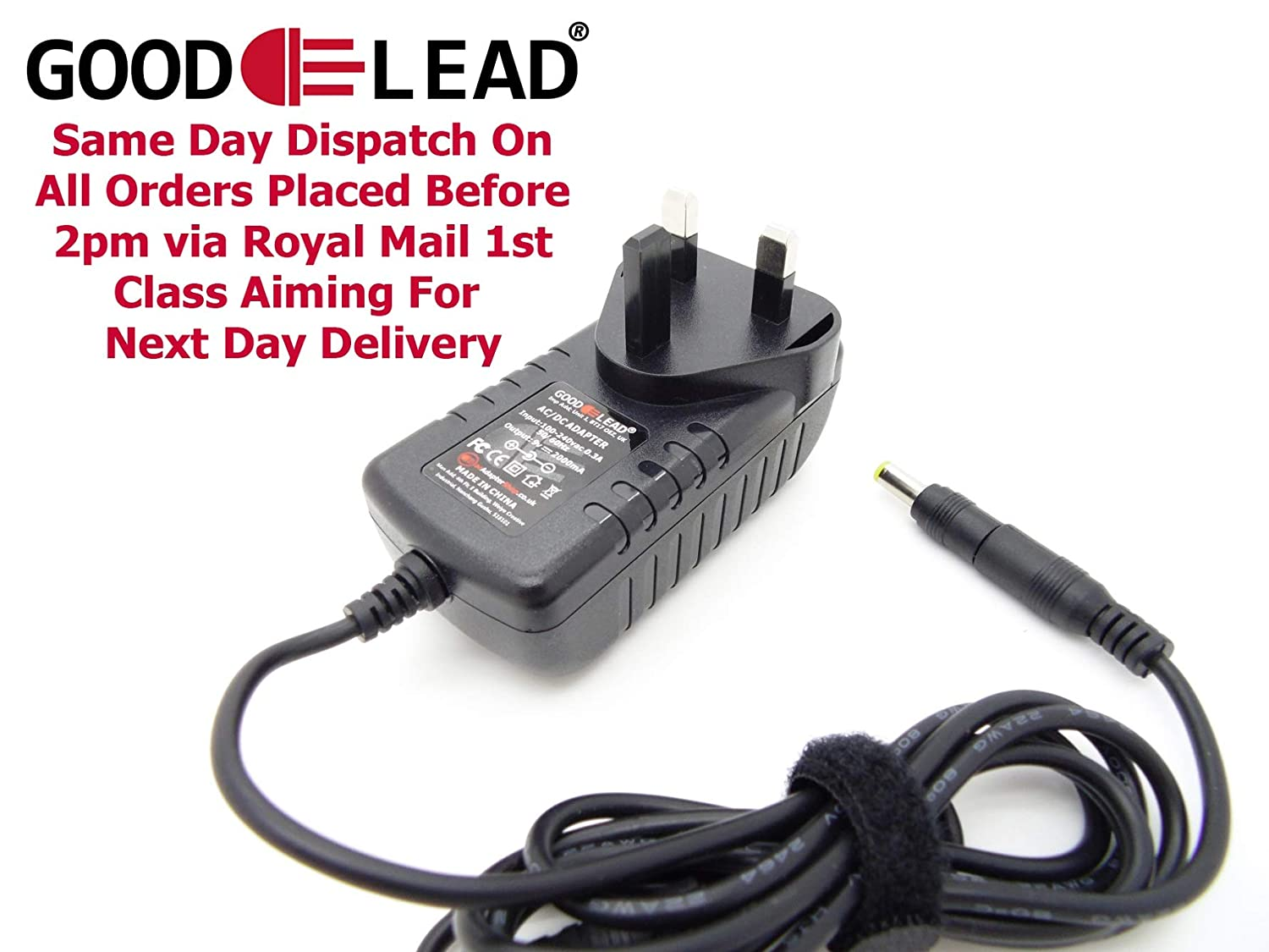 GOOD LEAD 9V ACDC Adaptor Power Supply Charger for Reebok ZR9 Crosstrainer Cross Trainer