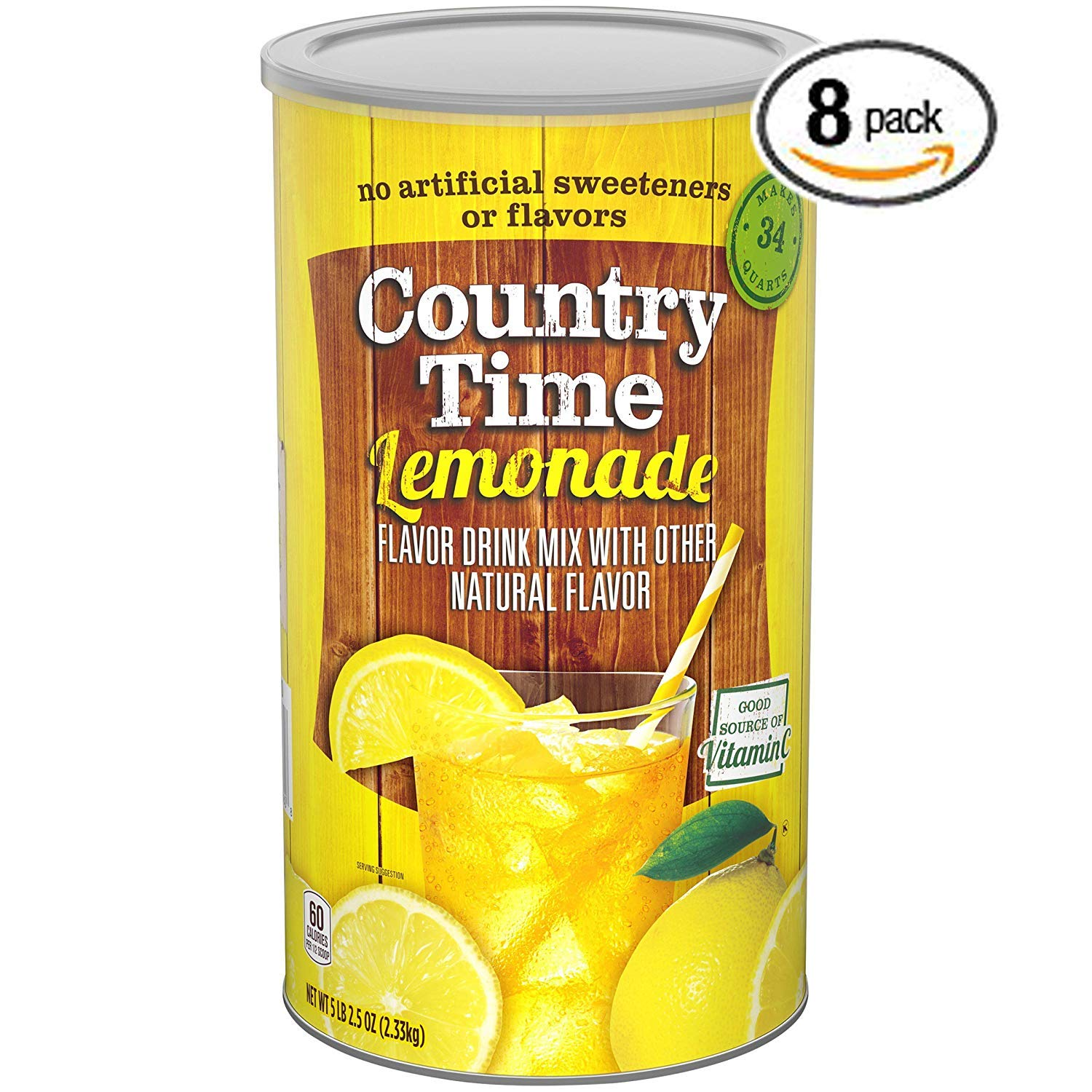 Country Time Lemonade Drink Mix, 82.5 oz Can - Pack of 8 by Country Time