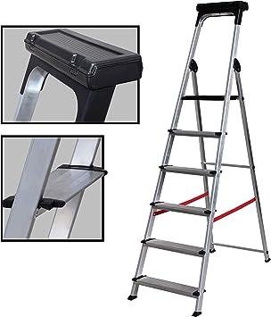 Escalera Ancha de Aluminio ELITE PLUS (4 Peldanos). BTF-TJB404: Amazon.es: Bricolaje y herramientas