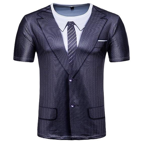 Slim fit Camiseta Hombre Verano, ஐVENMO Hombres Camisetas ...