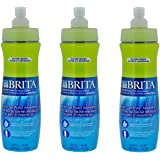 Brita Sport Water Filter Bottle, 20-Ounce, Green (Pack of 3)