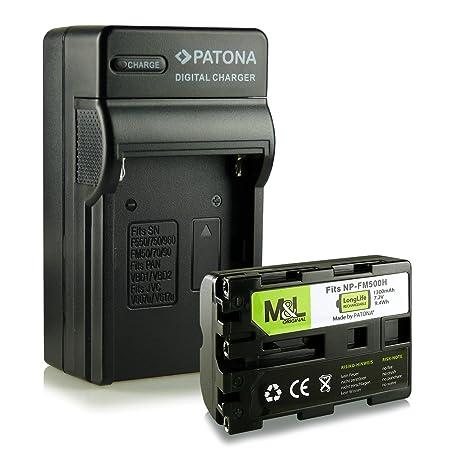 Cargador + Batería NP-FM500 compatible con Sony Alpha DSLR-A100 ...