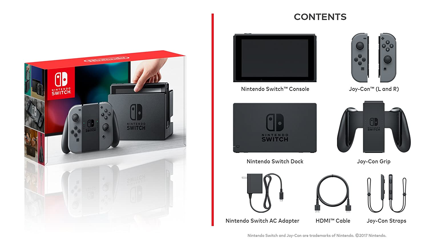Nintendo Switch Console - Grey Edition: Nintendo: Amazon ca