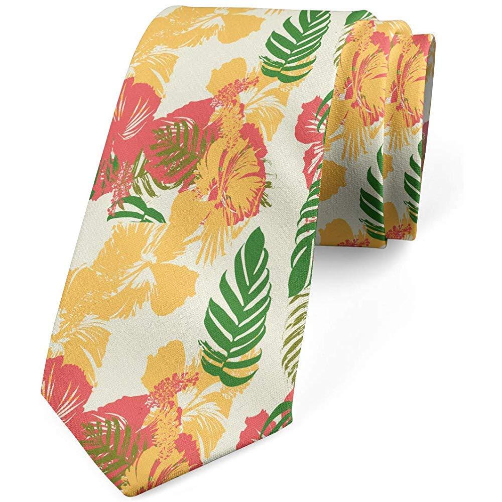 Corbata, Flora hawaiana tonos vivos, verde helecho mostaza: Amazon ...