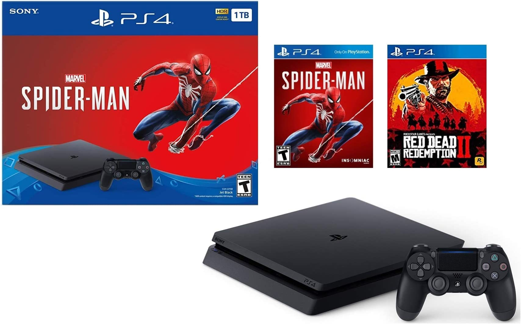 ps4 red dead spiderman