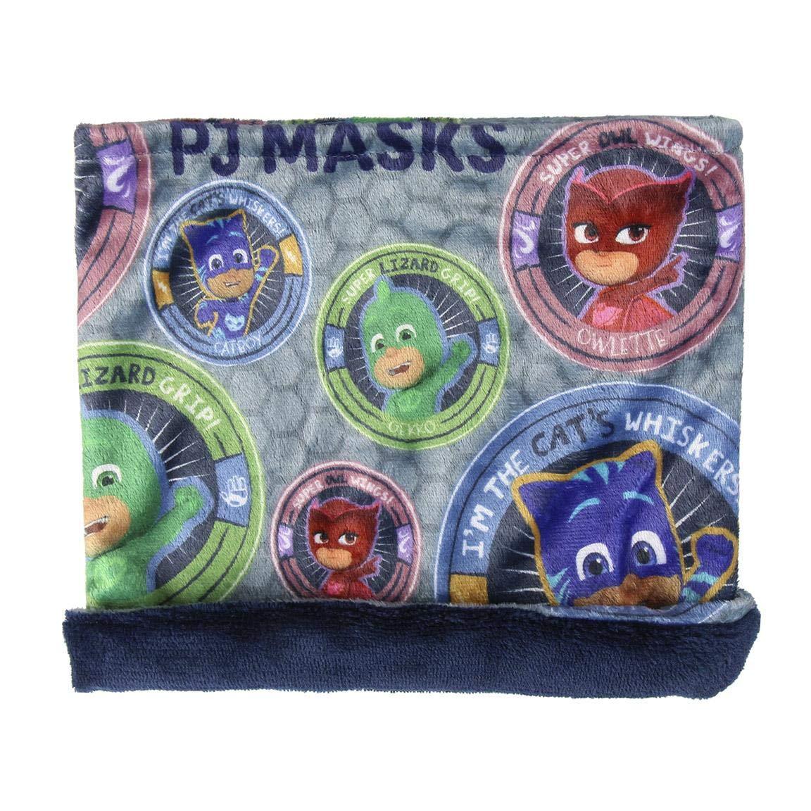 Cerdá PJ Masks, Bufanda para Niños (Gris 001), One Size (Tamaño del Fabricante:única) 2200003257