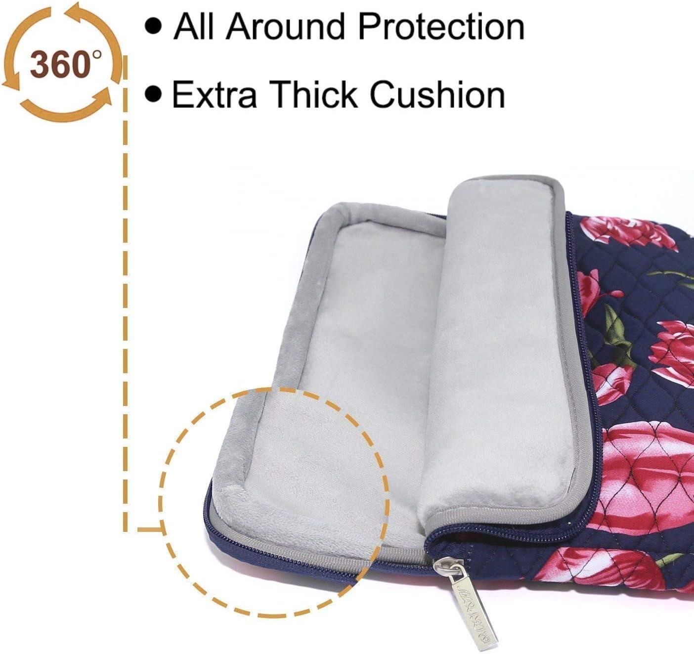 Hydrofuge Toile Antichoc Laptop Sleeve /à Motif dOndulation avec Petite Pochette Notebook MOSISO Housse Compatible avec 13-13,3 Pouces MacBook Pro MacBook Air Tulipe