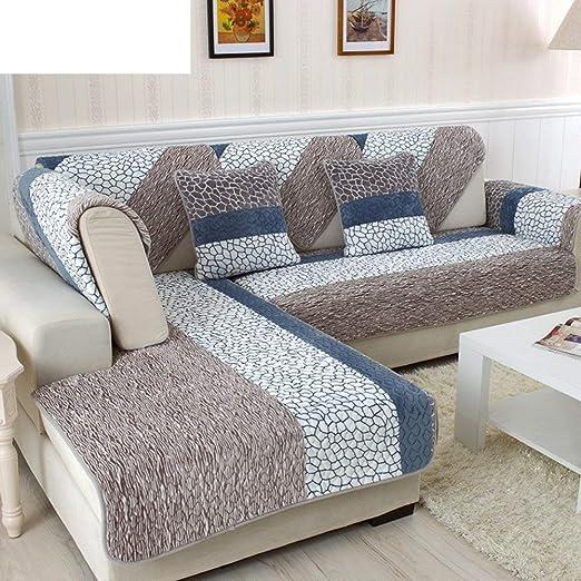 ACZZ Cojines de sofá de felpa, elegante cojín de sofá de ...