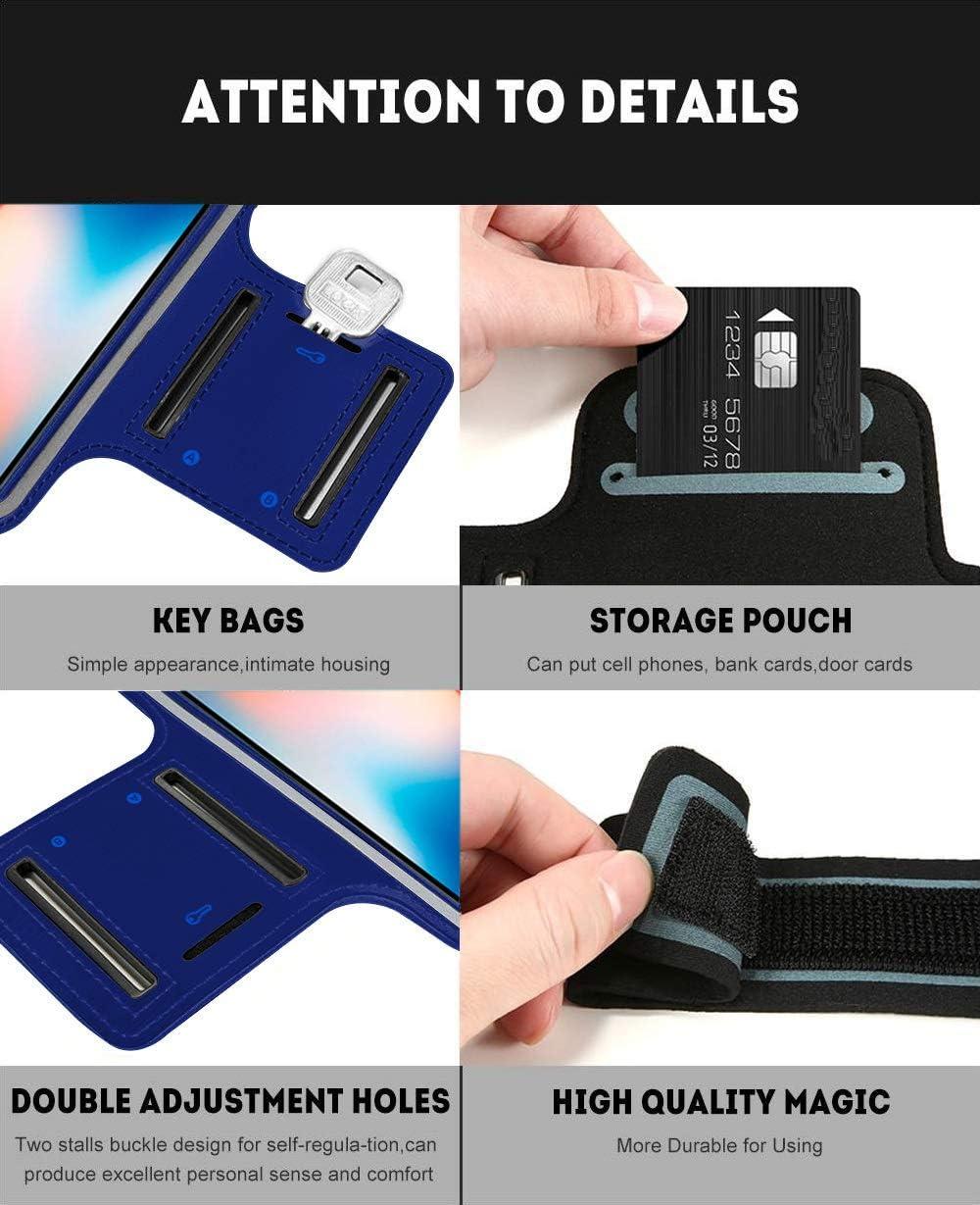 Brassard Sport Compatible avec Samsung Galaxy S9 Running n/éopr/ène r/églable Velcro antisueur antid/érapant Poche pour cl/és /écouteurs Noir