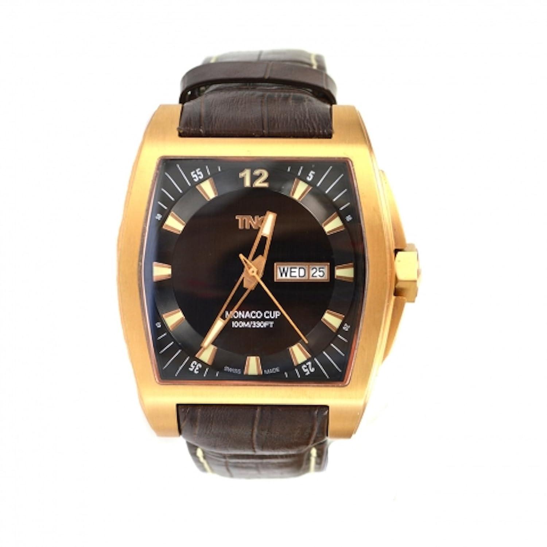 TNG Herren-Armbanduhr Analog Leder Braun TG667.30572.06PV