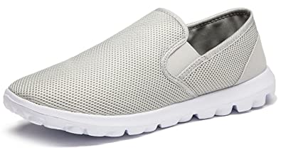 c7fdb50f20ea vibdiv Men s Slip on Shoes Casual Shoes Lightweight Breathable Anti-Slip  Shoes(EU 40