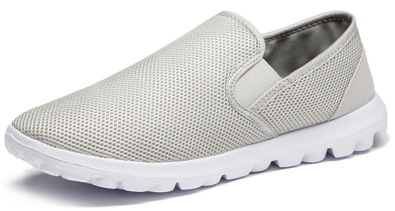 Vibdiv--Men's Lightweight Breathable Anti-Slip Casual Shoes(EU 41 US 8 Men,Grey)
