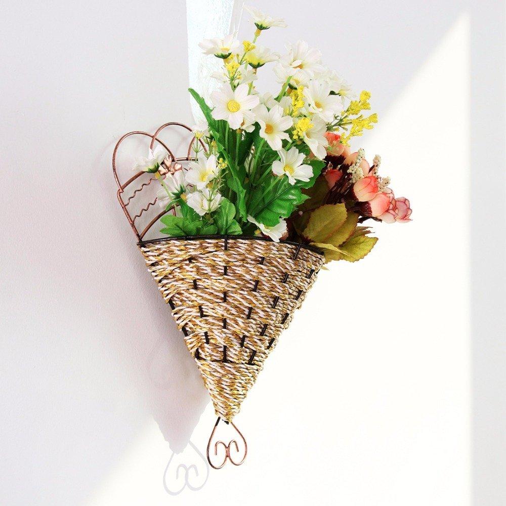 ZTTLOL M/étal Fleur Pot Plante Suspendue Panier Jardin Flexible Int/érieur Maison//Jardin Guirlande Fleur Jardin Vases D/écoration Murale Ext/érieure