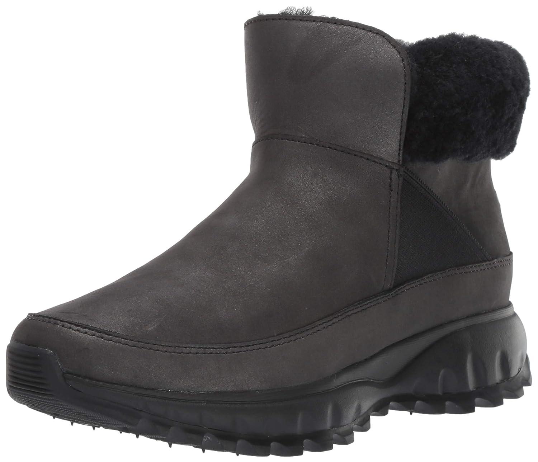 Black Shimmer Leather Waterproof Cole Haan Womens Zerogrand Explore All-Terrain Bootie Waterproof Ankle Boot