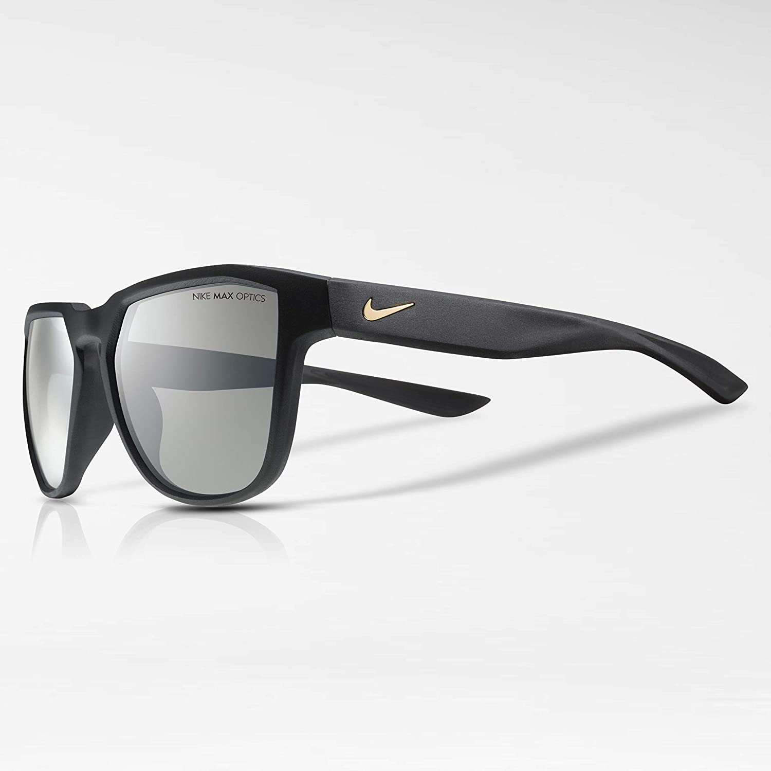 fbeb42c6475ad Nike Golf Men's Nike Fly Swift Rectangular Sunglasses, Matte Black/Gold  Frame, 57 mm