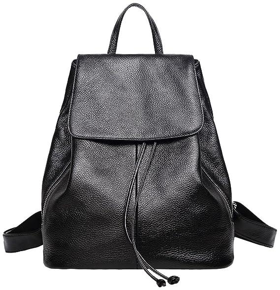 3d96207f3b0 Genuine Leather Backpack for Women Elegant Ladies Travel Shoulder Bag