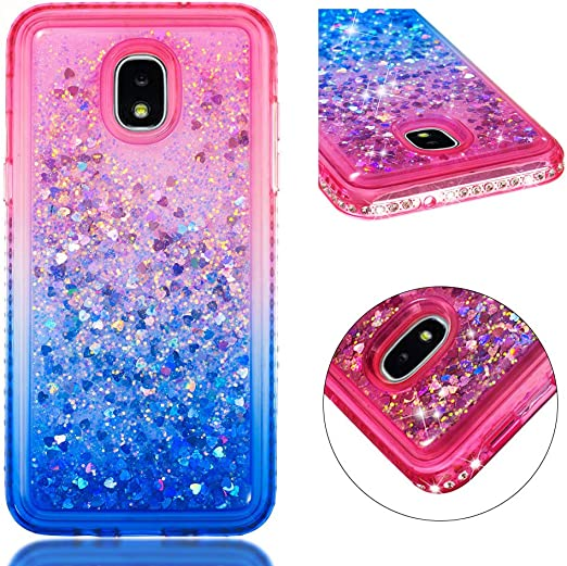 Shockproof Anti-Scratch Shock Absorption Protective Cover Case for Samsung Galaxy J3 2018 NEXCURIO Glitter Silicone Case for Galaxy J3 Orbit//J3 Star//J3 Achieve NEYBO490170#2
