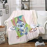 Goplnma 1 Manta de franela de Stitch, de Lilo y Stitch de Disney, para niños y adultos, manta de sofá, impresión 3D, 100…