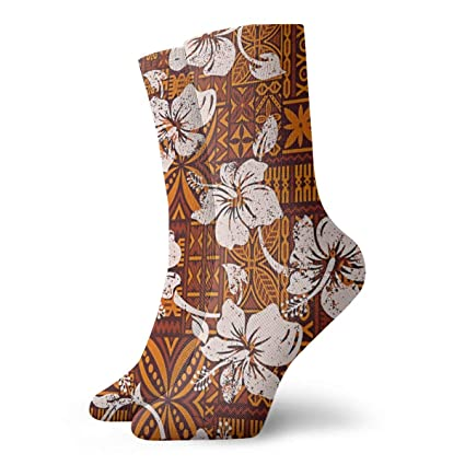 Hibiscus Flowers Crazy Socks Soft Breathable Casual Socks For Sports Athletic Running