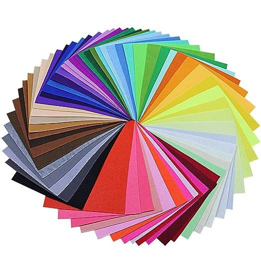 BUZIFU Fieltro para Manualidades 60 Colores 230 x 300 mm No Tejido Tela de Fieltro, Suave y Puede Cortar Libremente, Juguetes para Niños, Ideales para ...