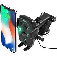 iOttie- Easy One Touch Qi, Soporte de Rejilla de Ventilación para Coche, para Samsung Galaxy S8, S7/S7 Edge, Note 8 5 & Standard Charge for iPhone X, 8/8 Plus