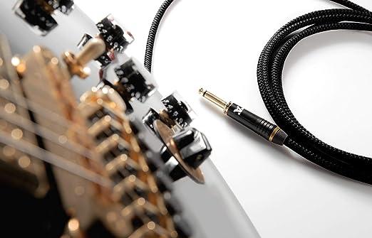 molto silenzioso da Jack 6,3mm dritto White Dragon 3m rosso basso e Strumenti Musicali Cavo jack to jack per chitarra elettrica