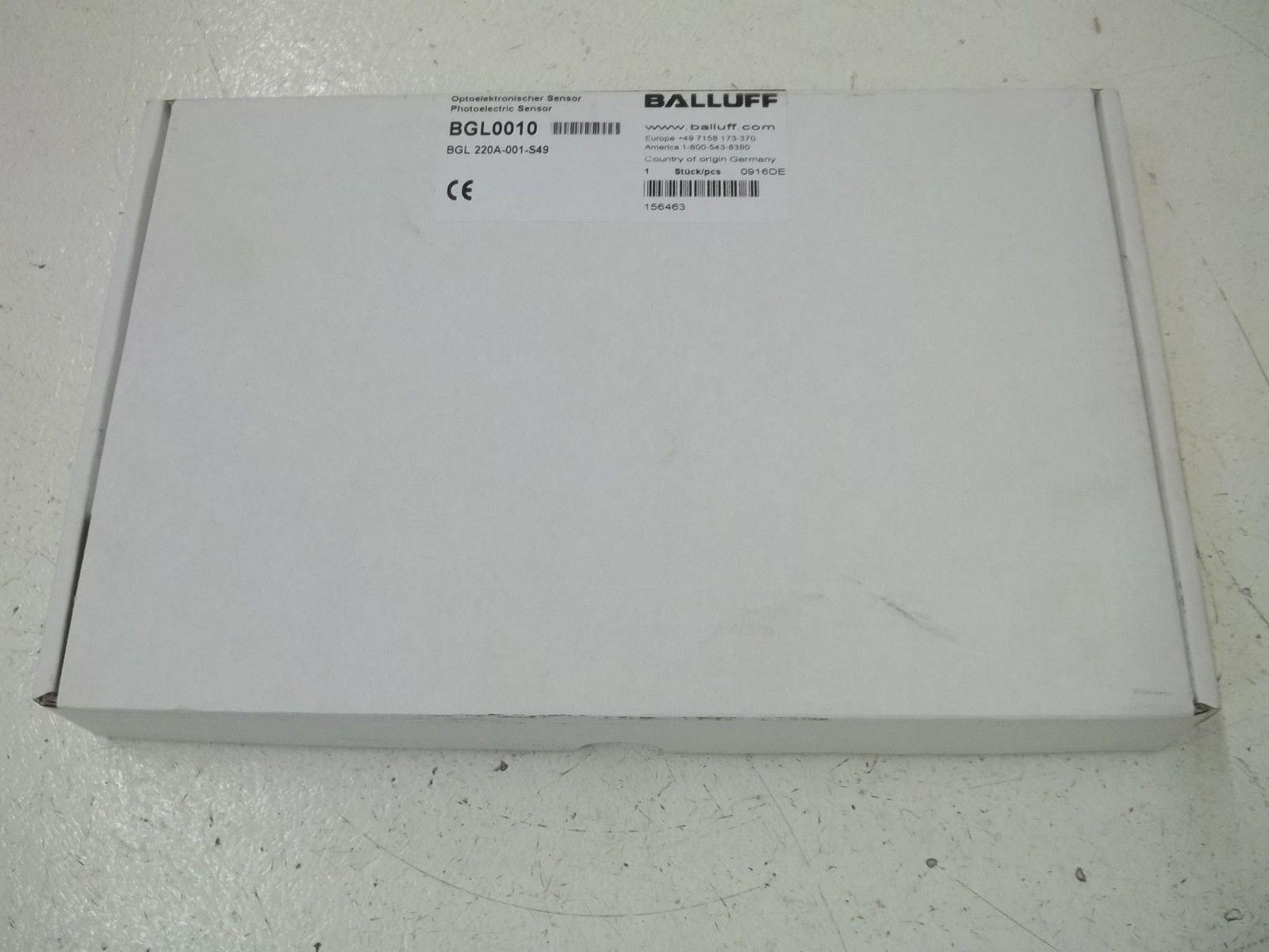BALLUFF BGL220A-001-S49 PHOTOELECTRIC SENSOR NEW IN BOX