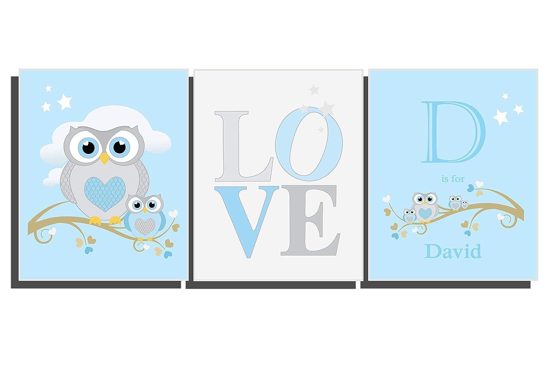 Nursery Name Wall Art Picture New Baby Christening Print Frameless