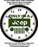 ONLY IN A JEEP LOGO WALL CLOCK-FREE USA SHIP