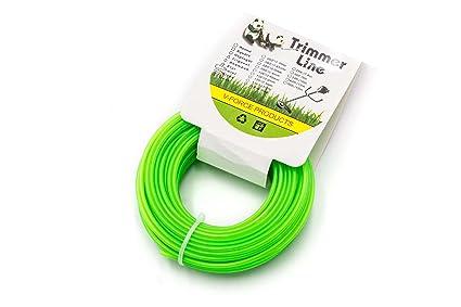 vhbw Hilo Corta Césped 2.4mm Verde 15m para cortacésped y cortabordes; por ej.