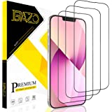 [3 Pack] BAZO Compatible with iPhone 13 / iPhone 13 Pro 6.1 inch, Tempered Glass Screen Protector, HD Clear, Distinctive High