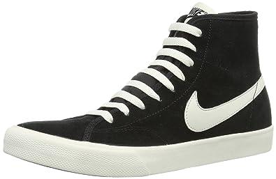 e30c3f0ad8 NIKE Womens Primo Court Mid Suede Hi-Top Sneakers Black Schwarz (Black Sail
