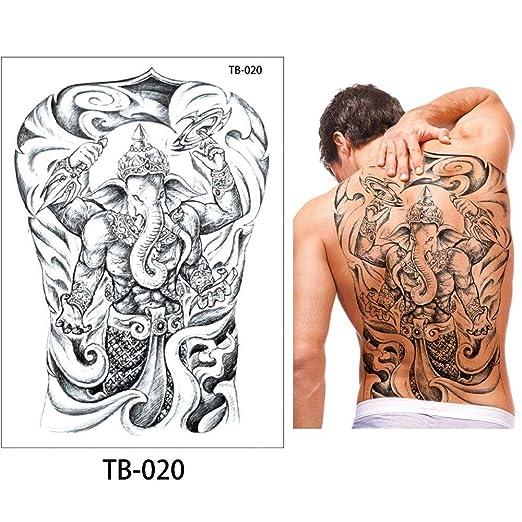 Zhuhuimin Big 3 unids Espalda Tatuaje Pegatinas Moda Tatuaje ...