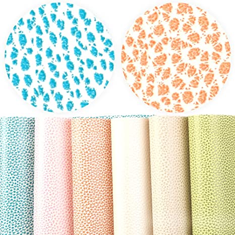 Solid Color Litchi Pattern Faux Leather Sheet  20*34 CM 10 Pcs for Sewing Craft