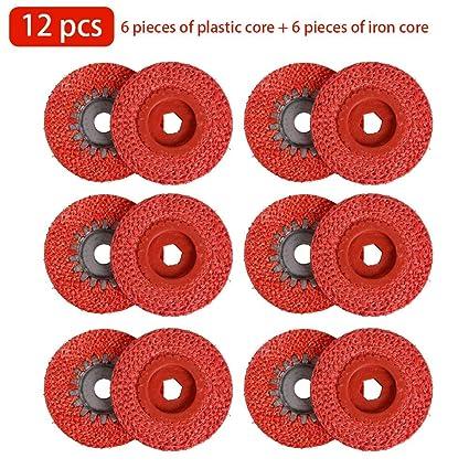 greatdaily - Discos abrasivos (12 Unidades, 100 mm, cáñamo ...