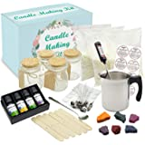 Complete DIY Candle Making Kit Supplies - Full Beginners Soy Candle Making Kit Including Soybean Wax, Dyes, Wicks, Pot, Tins