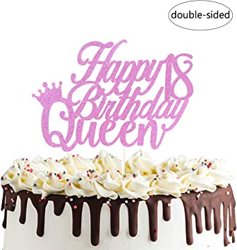 Marvelous Happy 18Th Queen Birthday Cake Topper For Forever 18 Cheers To 18 Birthday Cards Printable Trancafe Filternl