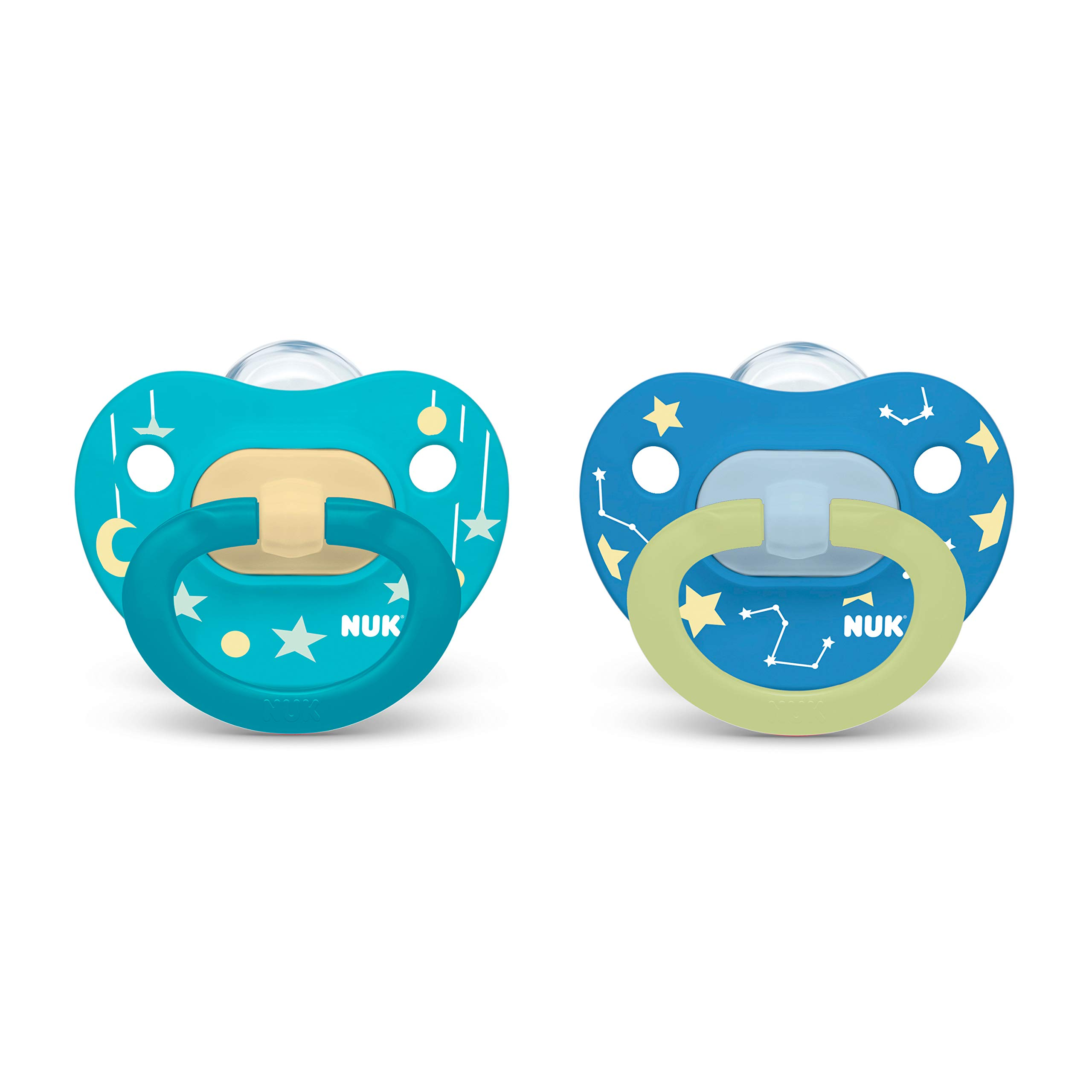 NUK Glow-in-The-Dark Orthodontic Pacifiers