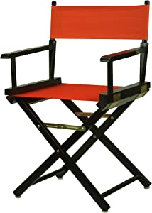 """Casual Home 18"""" Director's Chair Black Frame with Orange Canvas"""