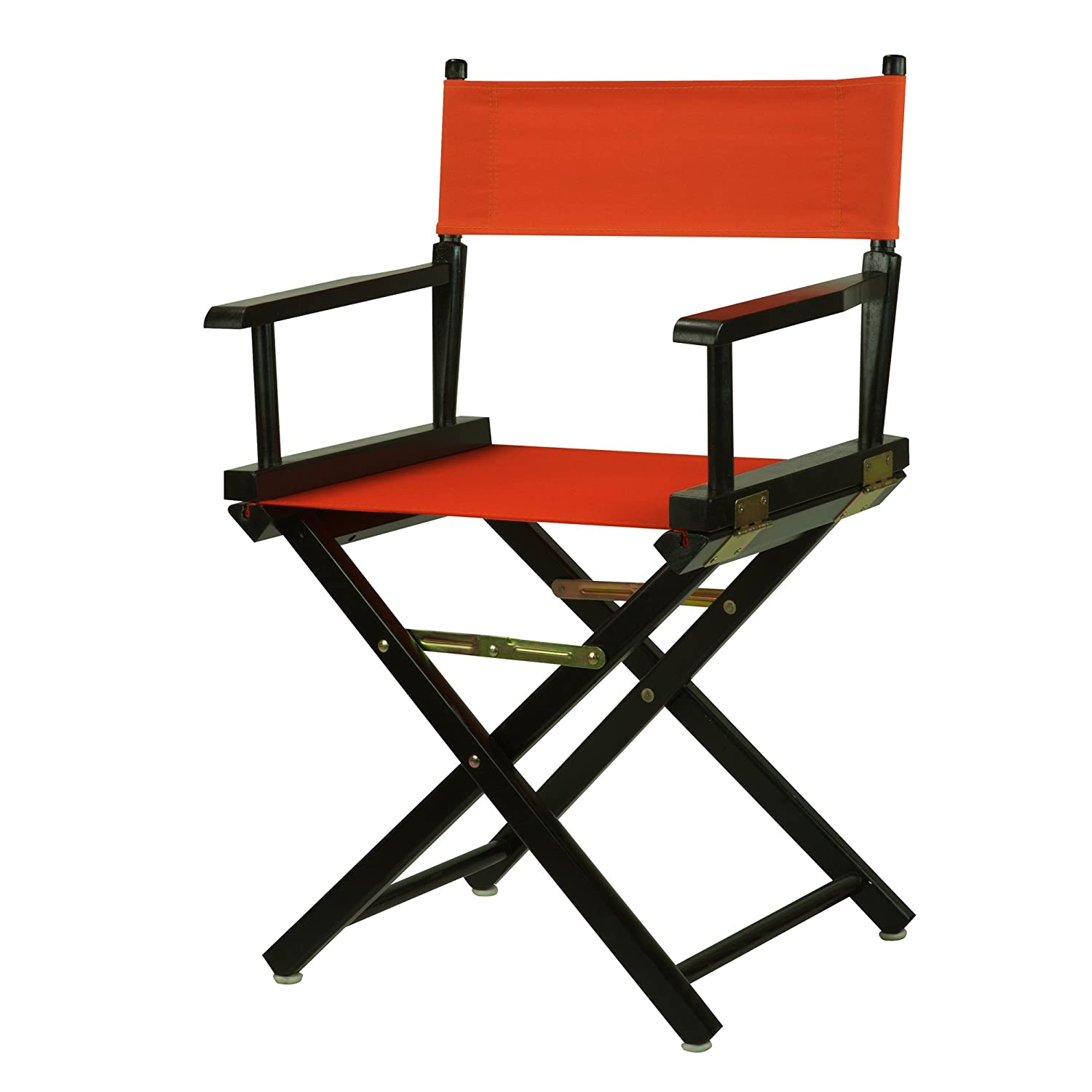 orange 18-Inch Casual Home 24-Inch Director Chair Black Frame, Hunter Green Canvas
